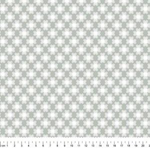 PRÉ-VENDA até 14/10 - Faturamento a partir de 30/10 - Tricoline Estampada Bolt Flor de Poá Cinza