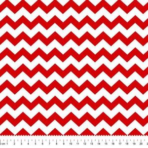 PRÉ-VENDA até 14/10 - Faturamento a partir de 30/10 - Tricoline Estampada Bolt New Chevrom Vermelha