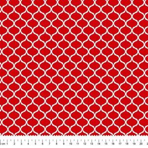 PRÉ-VENDA até 14/10 - Faturamento a partir de 30/10 - Tricoline Estampada Bolt Organic Flow Vermelha