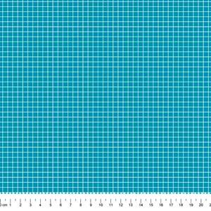 PRÉ-VENDA até 14/10 - Faturamento a partir de 30/10 - Tricoline Estampada Bolt Quadrinhos Azul
