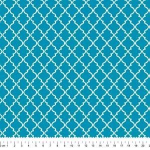 PRÉ-VENDA até 14/10 - Faturamento a partir de 30/10 - Tricoline Estampada Bolt Quatra Azul