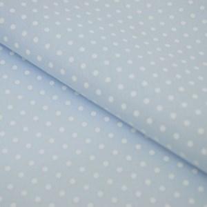 Tricoline Estampada Silky Arinete Azul Claro com Branco