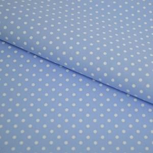 Tricoline Estampada Silky Arinete Azul com Branco