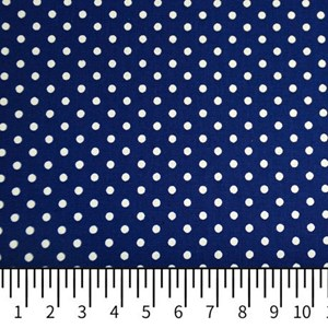 Tricoline Estampada Silky Arinete Azul Escuro com Branco