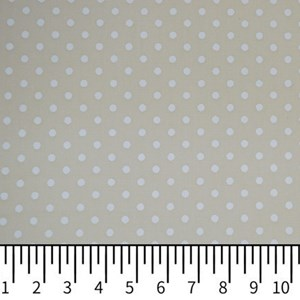 Tricoline Estampada Silky Arinete Bege com Branco