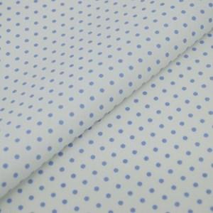 Tricoline Estampada Silky Arinete Branco com Azul
