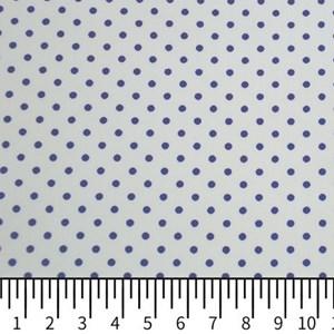 Tricoline Estampada Silky Arinete Branco com Azul Escuro