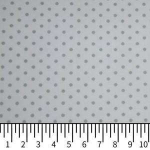 Tricoline Estampada Silky Arinete Branco com Cinza