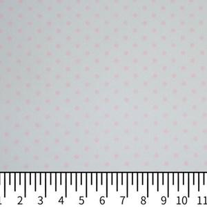 Tricoline Estampada Silky Arinete Branco com Rosa