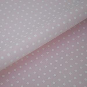 Tricoline Estampada Silky Arinete Rosa com Branco