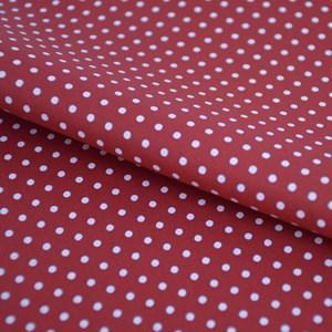 Tricoline Estampada Silky Arinete Vermelho com Branco