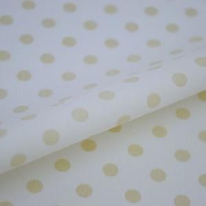 Tricoline Estampada Silky Bola Bege com Branco