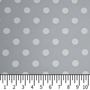 Tricoline Estampada Silky Bola Branca com Cinza