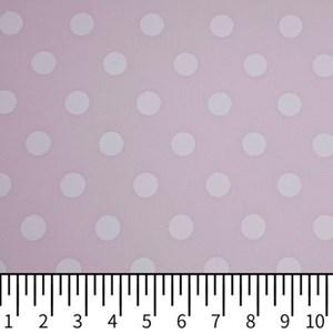 Tricoline Estampada Silky Bola Branca com Rosa