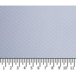 Tricoline Estampada Silky Confeti Azul Claro com Branco