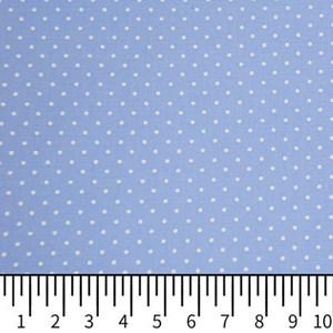 Tricoline Estampada Silky Confeti Azul com Branco