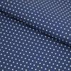 Tricoline Estampada Silky Confeti Azul Escuro com Branco