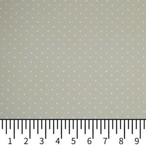Tricoline Estampada Silky Confeti Bege com Branco