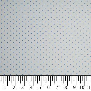 Tricoline Estampada Silky Confeti Branco com Azul