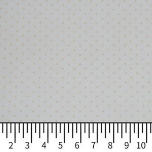 Tricoline Estampada Silky Confeti Branco com Bege