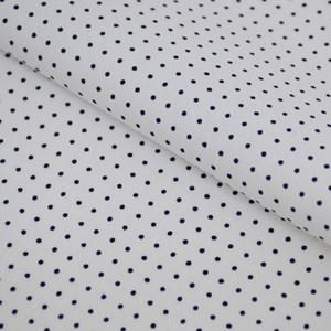 Tricoline Estampada Silky Confeti Branco com Marinho