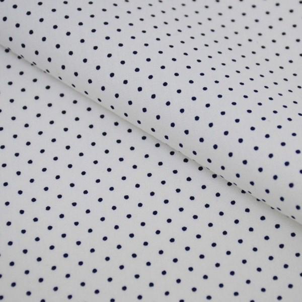 Tricoline Estampada Silky Confeti Branco com Preto