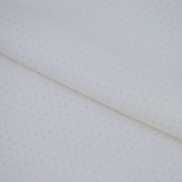 Tricoline Estampada Silky Confeti Branco com Rosa