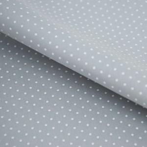 Tricoline Estampada Silky Confeti Cinza com Branco