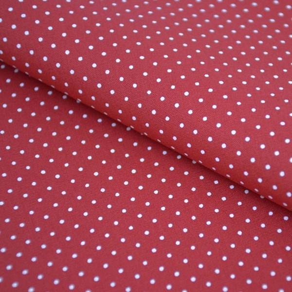 Tricoline Estampada Silky Confeti Vermelho com Branco