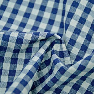 Tricoline Fio Tinto 9XM OLINDA Azul e Cinza