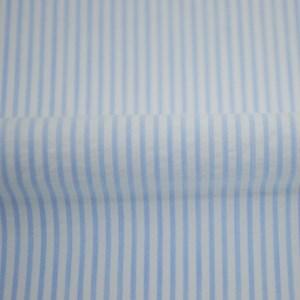 Tricoline Fio Tinto Ana Ruga Listra Azul Claro