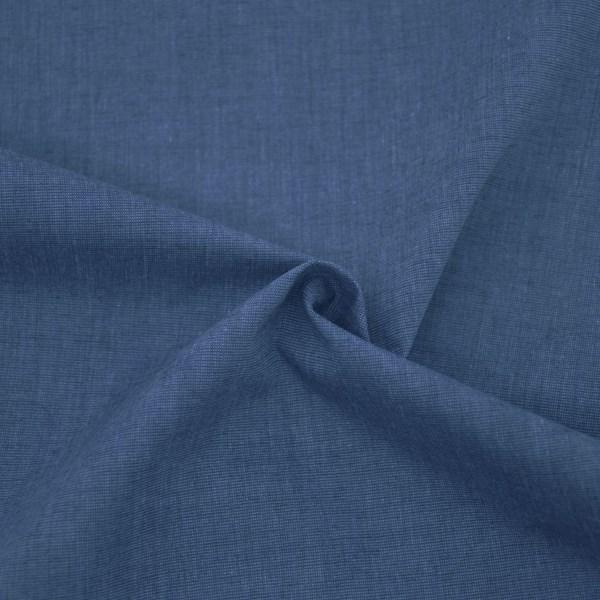 Tricoline Fio Tinto Fil a Fil Azul Jeans