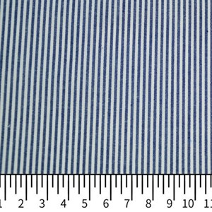 Tricoline Vichy Job L2 Azul Escuro - 75% algodão e 25% poliéster
