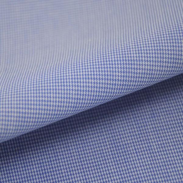 Tricoline Vichy Job X1 Azul  - 83% algodão e 17% poliéster