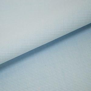 Tricoline Vichy Job X1 Azul Claro  - 83% algodão e 17% poliéster