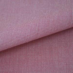 Tricoline Vichy Job X1 Vermelho - 83% algodão e 17% poliéster