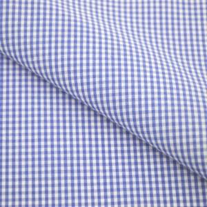 Tricoline Vichy Job X2 Azul - 83% algodão e 17% poliéster
