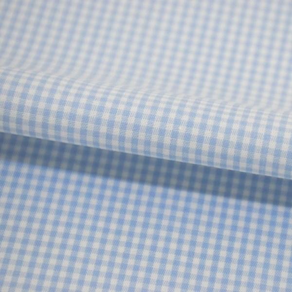 Tricoline Vichy Job X2 Azul Claro - 83% algodão e 17% poliéster