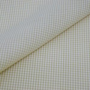 Tricoline Vichy Job X2 Bege - 83% algodão e 17% poliéster