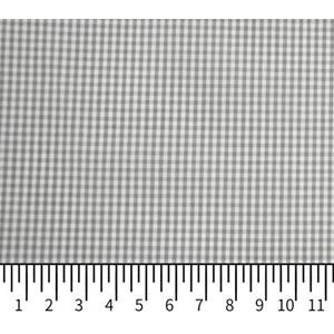 Tricoline Vichy Job X2 Cinza - 83% algodão e 17% poliéster
