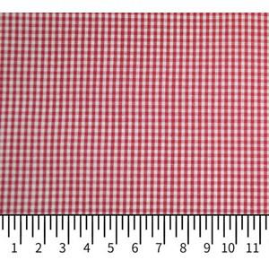 Tricoline Vichy Job X2 Vermelho - 83% algodão e 17% poliéster