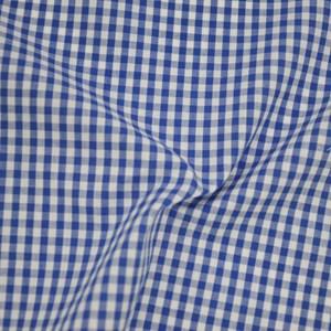 Tricoline Vichy Job X3 Azul - 83% algodão e 17% poliéster