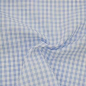 Tricoline Vichy Job X3 Azul Claro  - 83% algodão e 17% poliéster