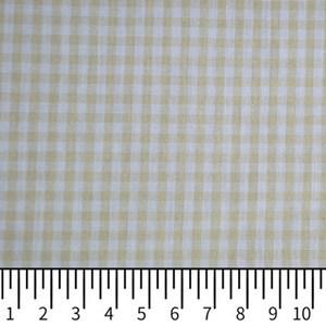 Tricoline Vichy Job X3 Bege - 83% algodão e 17% poliéster