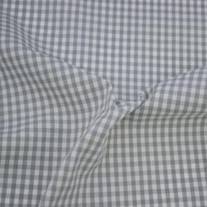 Tricoline Vichy Job X3 Cinza - 83% algodão e 17% poliéster