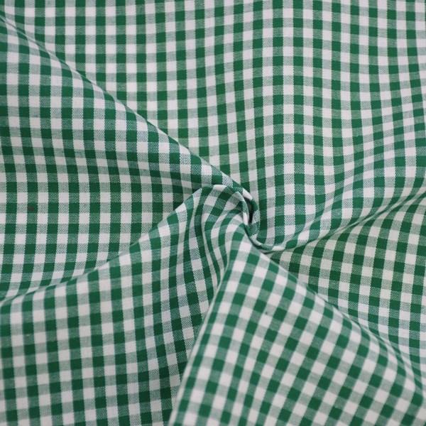 Tricoline Vichy Job X3 Verde - 83% algodão e 17% poliéster