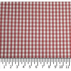 Tricoline Vichy Job X3 Vermelho - 83% algodão e 17% poliéster